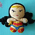 #crochet : wonder woman, personnage de base by célénaa