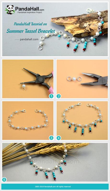 4-PandaHall-Tutorial-on-Summer-Tassel-Bracelet