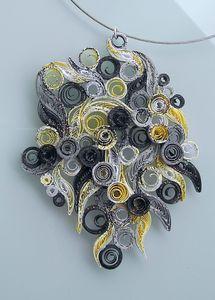 collier_quil_jaune_gris_noir_1