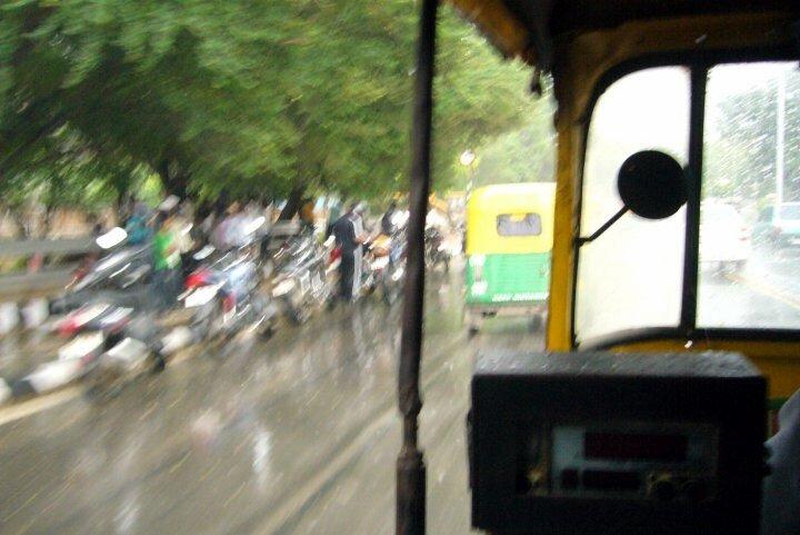 2 Delhi mousson rickshaw