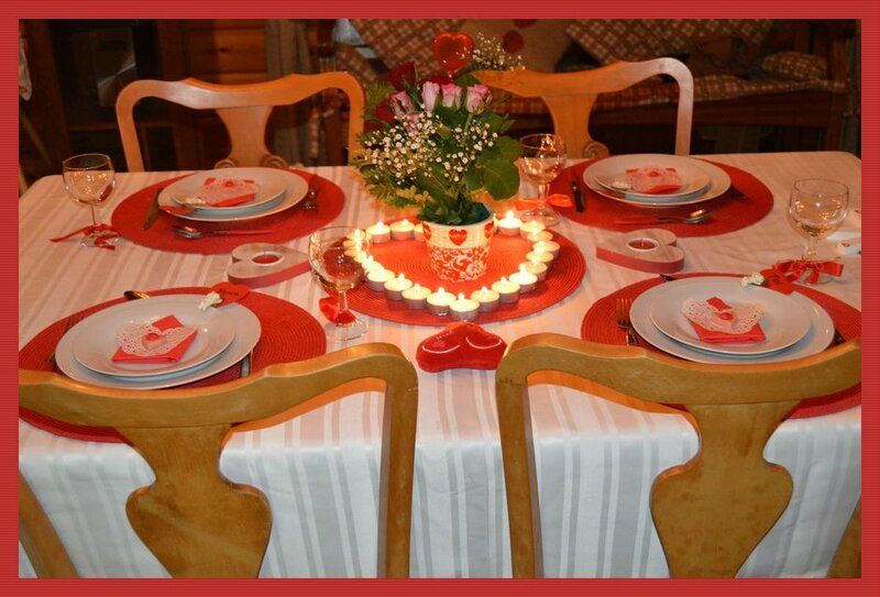 Table saint valentin 2014