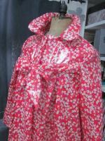 Ciré AGLAE en coton enduit Liberty Mitsi fleuri rouge (4)