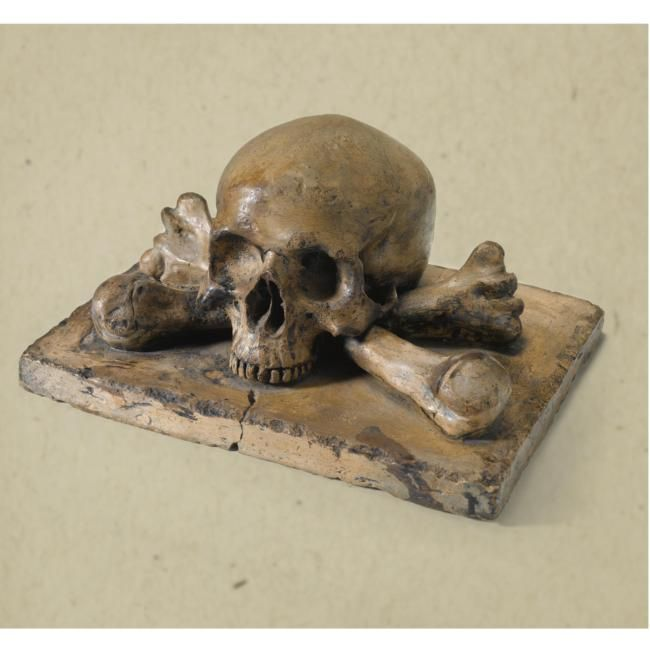 Italian, late 17th/ early 18th century. Model of a skull and bon