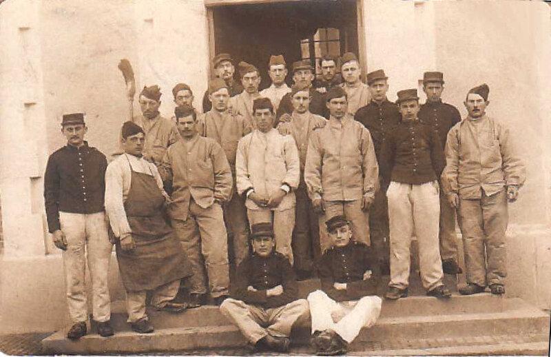 Caen, Quartier Claude Decaen, 43e RAC, artilleurs, vers 1914