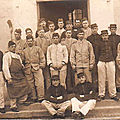 08 Caen, Quartier Claude Decaen, groupe 1913, 43e RAC, artilleurs, vers 1914