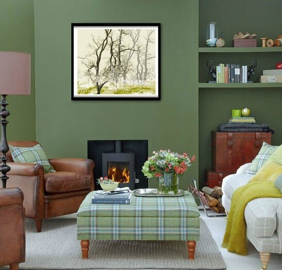 Forest-green-living-room