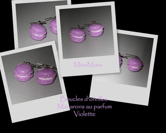Bo macarons violette