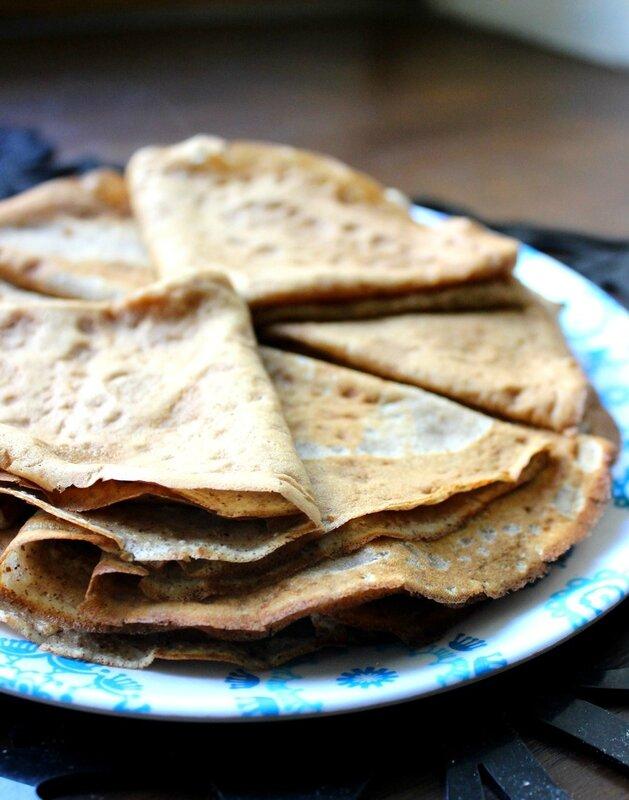 Crêpes à la farine de noix (2)