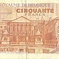 1966 50 francs verso de Baudouin & Fabiola - Parlement de Bruxelles