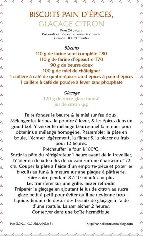 Biscuits pain d'épices, glaçage citron_fiche