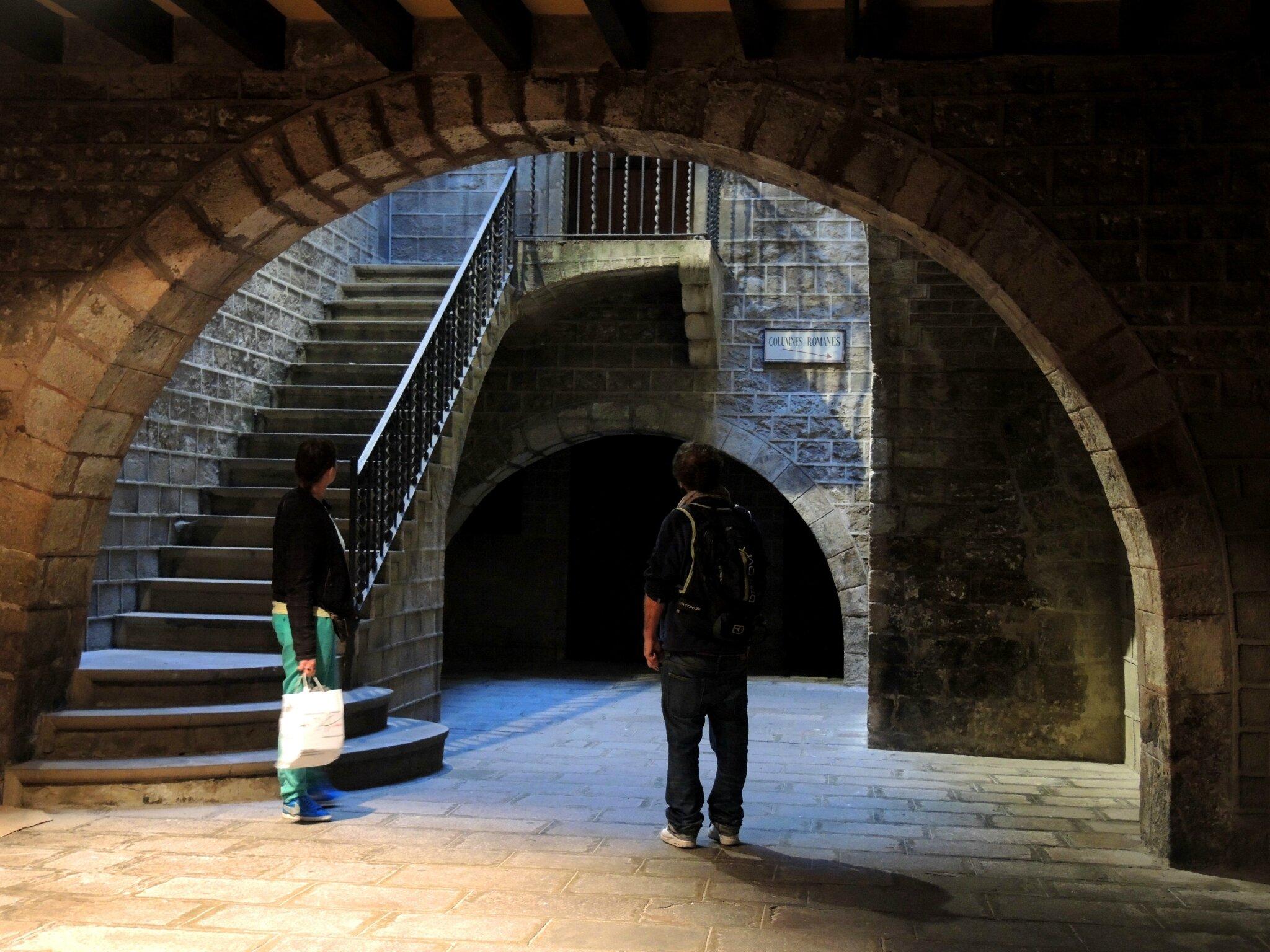 Barcelone, quartier gothique, chapelle Sainte Agathe (Espagne)