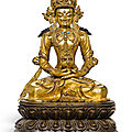 A gilt-bronze figure of amitayus, tibet, 15th-16th century