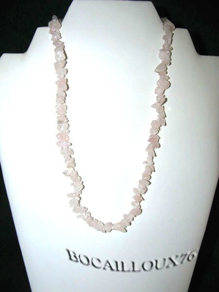 Collier QUARTZ Rose 6 (2)