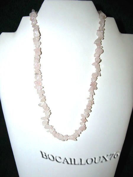 COLLIER QUARTZ ROSE 6