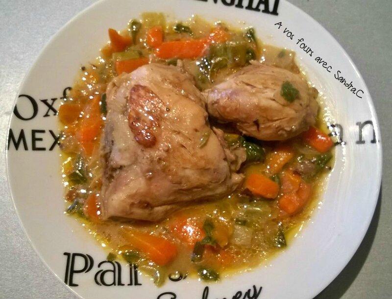blanquette de cuisse de poulet et ses légume au cookéo 2