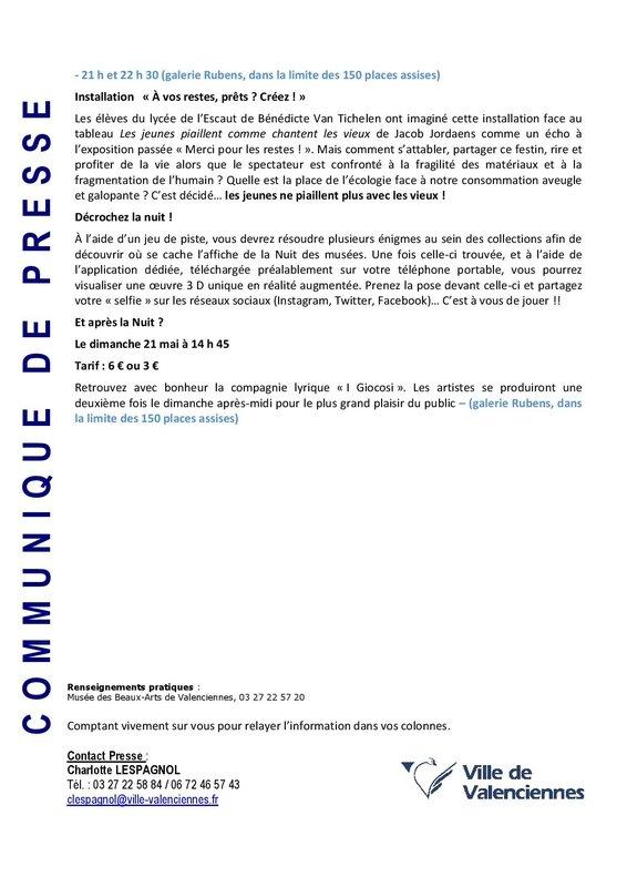 CP - LA NUIT DES MUSEES AU MUSEE DES BEAUX ARTS DE VALENCIENNES 20 mai 2017-page-002