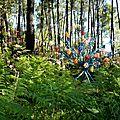 7 arbre multicolore dans les fougères