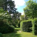 Jardin à l'anglaise aux abords de la maison