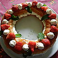 couronne fraise-chantilly