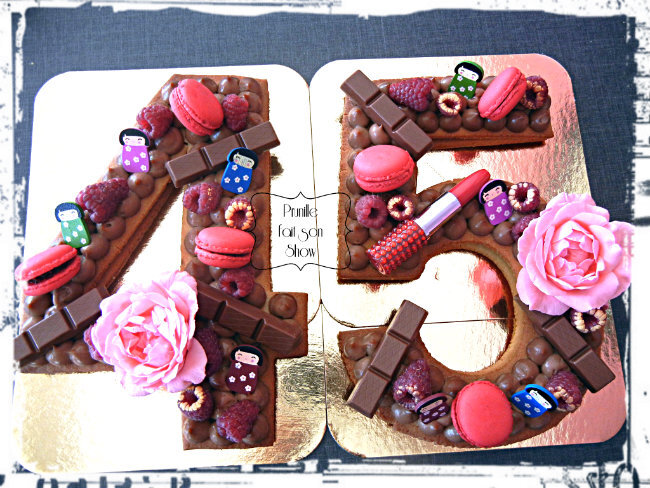 Number cake - 45 - girly and chocolate