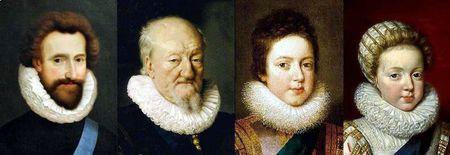 Portraits français vers 1610-1612