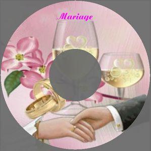etiquette CD mariage