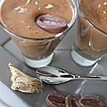 Mousse au chocolat au lait et gingembre