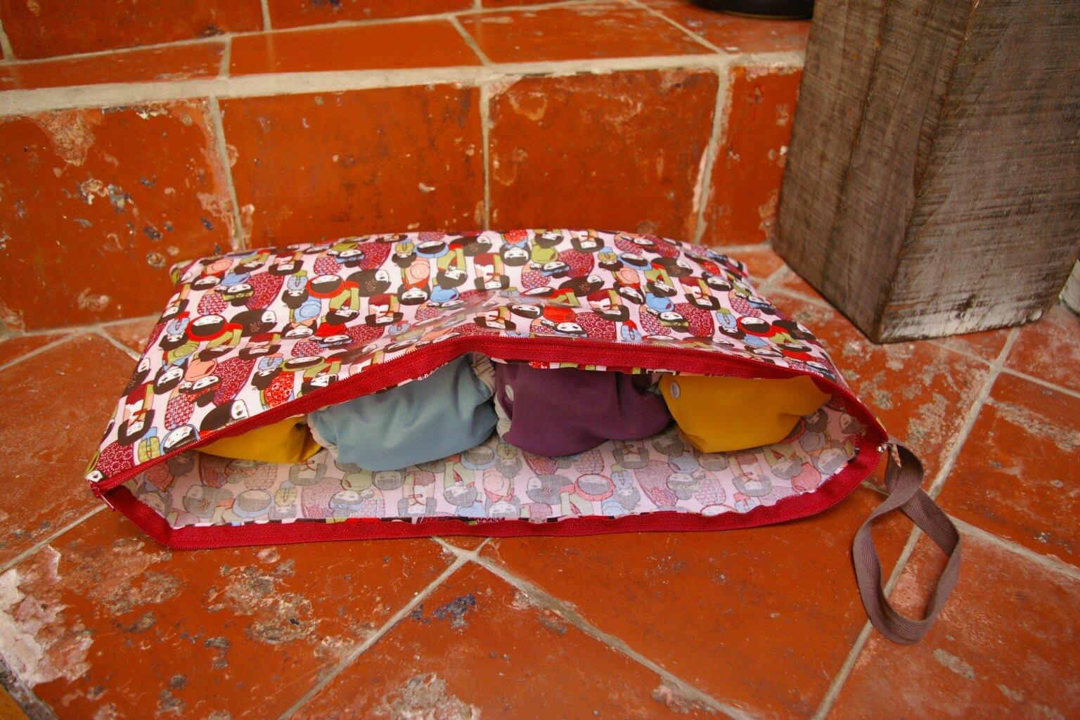 sac à couches lavables toile enduite, 2015