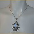 Collier pendentif mariage elfique medieval fantasy labradorite elven elvish wedding necklace