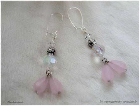 bo romantique mariée cristal et pendant rose