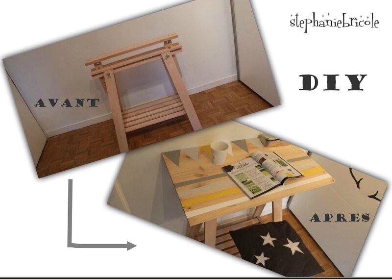 Un meuble avec un seul tréteau architecte !!! stéphanie bricole