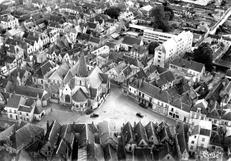 Bléré vu du ciel 1960