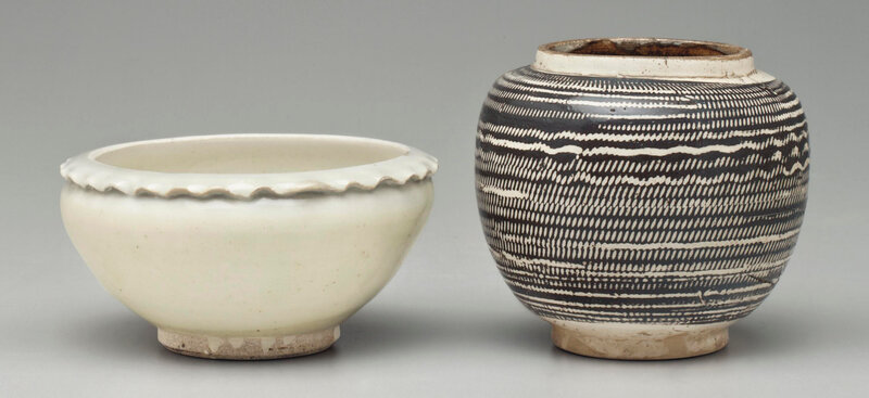 A Cizhou-type white-glazed bowl with 'pie crust' rim, Northern Song dynasty, 10th century