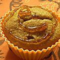 Muffins moelleux banane et caramel