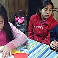 el reforzamiento escolar con Hna Blandine