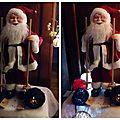 Le Père Noël sur ses skis