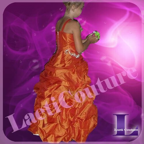 robe taffetas orange d'Alyssa1