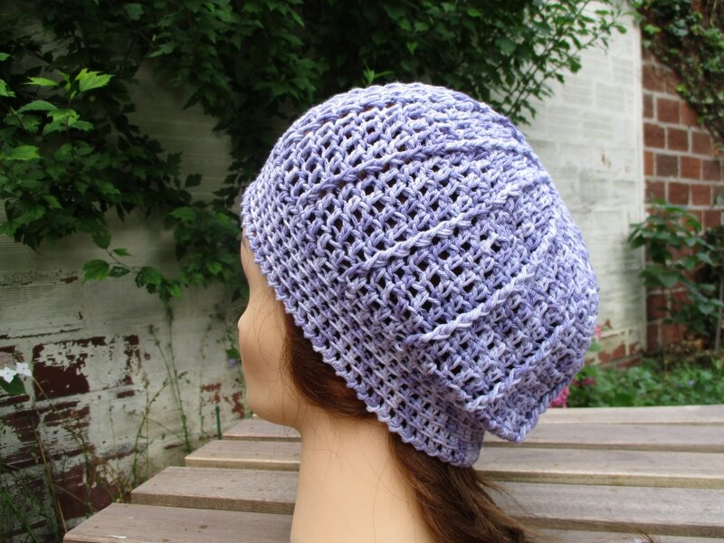 Bonnet simple en fil coton (12)