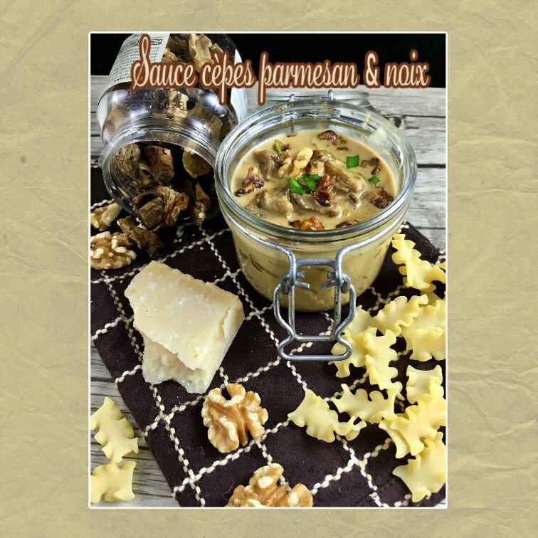 sauce cèpes parmesan et noix (scrap)