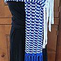 Guilvinec: une écharpe estivale en coton et mailles glissées