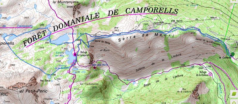 Circuit des lacs de Camporells