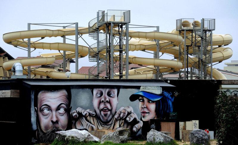 Seignosse, Le Penon, Atlantic Parc, toboggan-graffiti, hiver (40)
