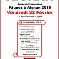 Aignan -présentation du cartel - paques 2019