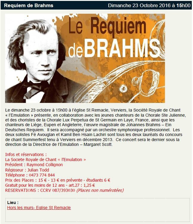 Brahms Requiem in CCRV