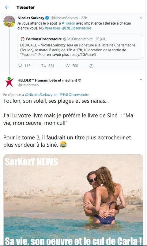 Tweet Nicolas Sarkozy