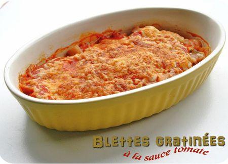 blettes gratinées à la tomate (scrap)