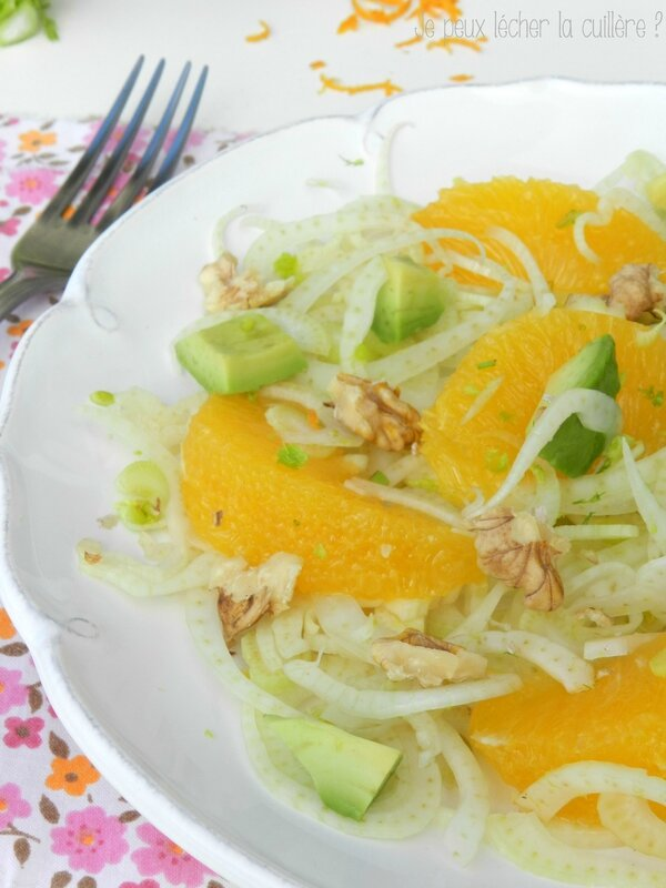 Salade de fenouil orange et avocat 3