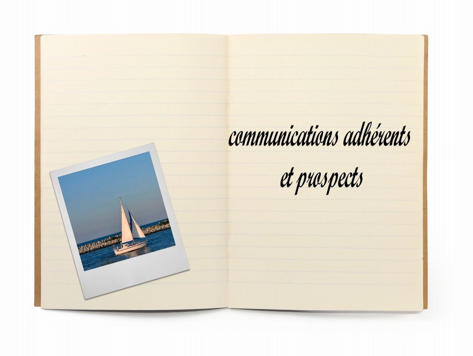communication adhérents et prospects