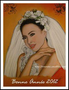 carte de voeux La mariéeOF2
