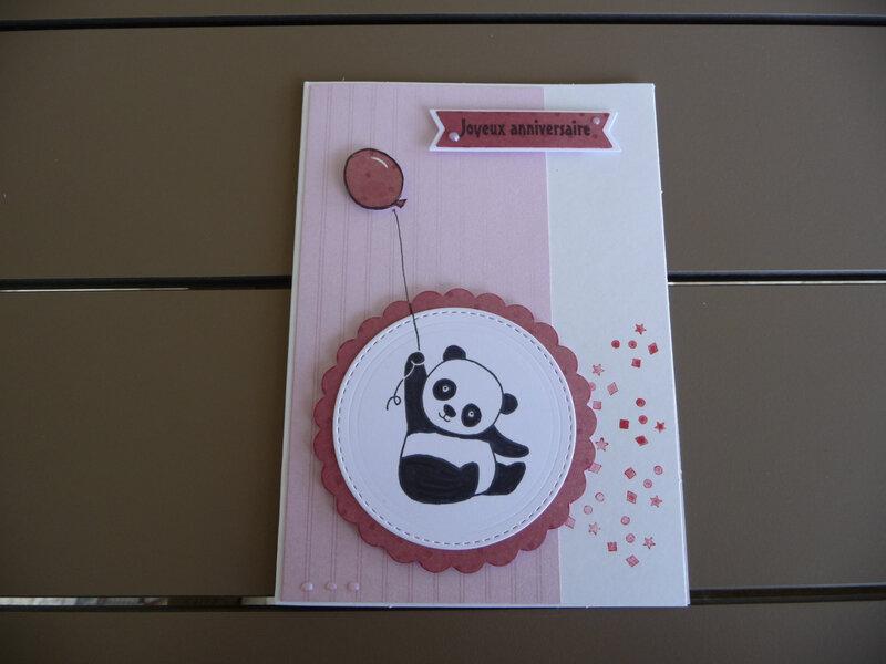 Carte Anniv Panda CO